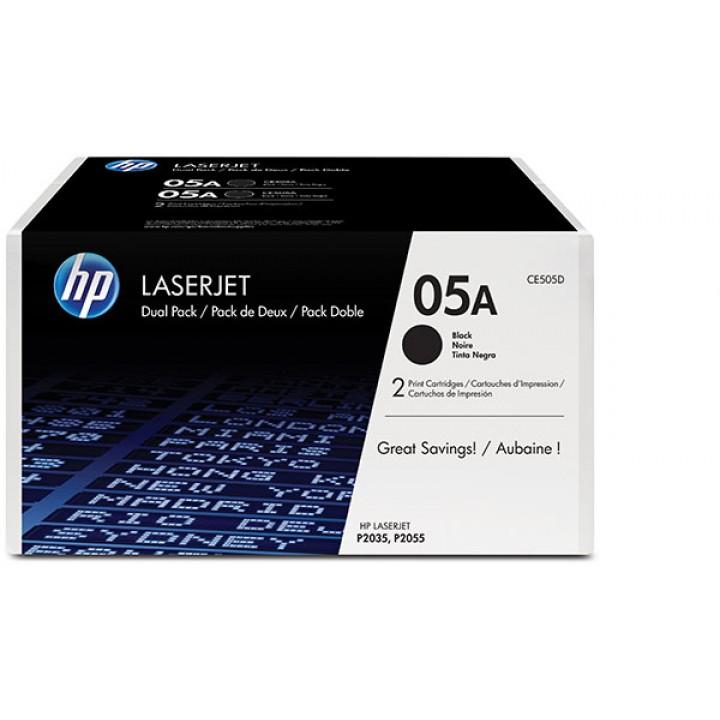 Картридж HP LaserJet P2035/2055 Standart Capacity 2х2300K (o) CE505AD 2х упаковка