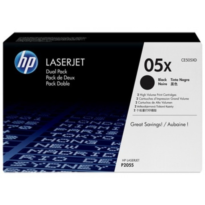 Картридж HP LaserJet P2055/P2055d/P2055dn High Capacity 2х6500K (o) CE505XD (2шт.)