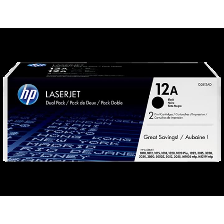 Картридж HP LJ1010/LJ1020/1022/ LJ3050/M1005 (o) Q2612AF (Двойная упаковка) 2х2000стр.