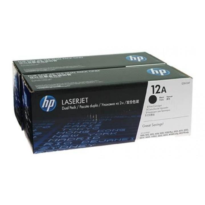 Картридж HP LJ1010/LJ1020/ LJ3050 (o) Q2612AD (Двойная упаковка ) 2х2000стр.