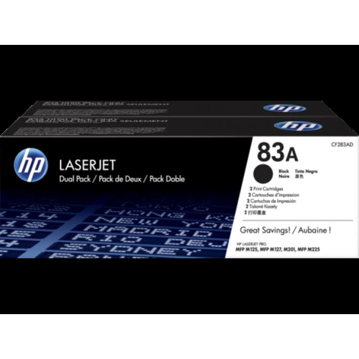 Картридж HP LJ Pro MFP M125/M127/M201/M225  CF283AD черный (2шт.) (2х1500стр.)