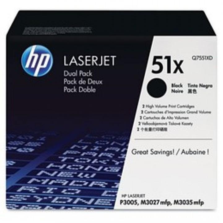 Картридж HP LJ P3005/ M3035/M3027 13000 стр. (o) Q7551XD 2х13000стр.