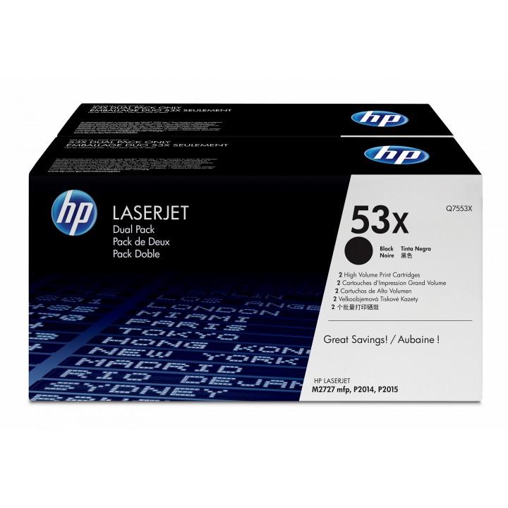 Картридж HP LJ P2014/ P2015/M2727 (2х7000 стр.) (o) (двойная упаковка) Q7553XD