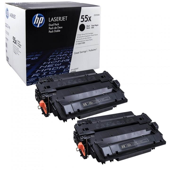 Картридж HP LJ P3015 CE255XD Двойная упаковка 2х12500 стр. (о)