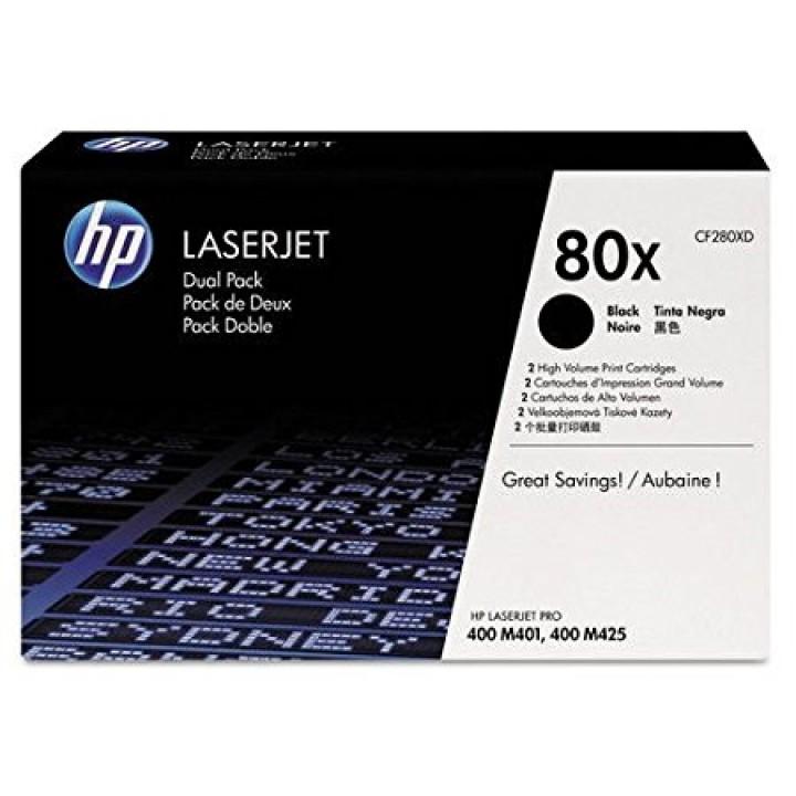 Картридж HP LJ Pro 400 M401/Pro 400 MFP M425 (13800 стр) CF280XD (уп.2шт.)