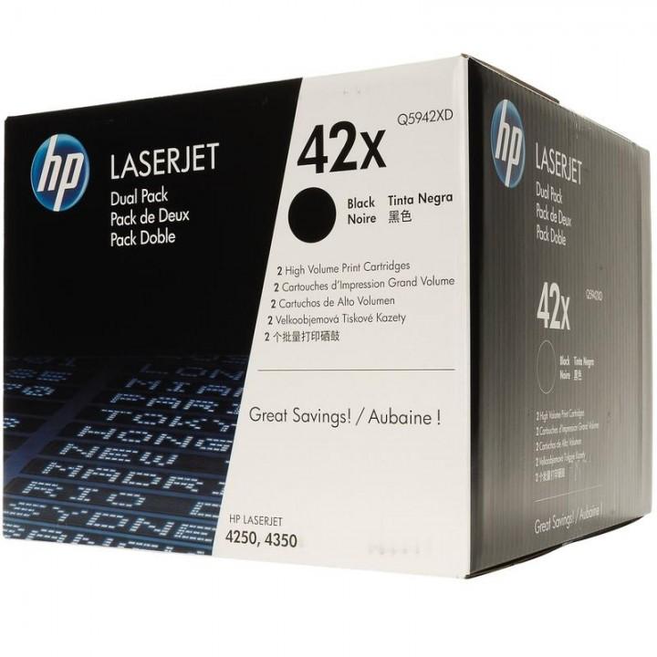 Картридж HP LJ4250/LJ4350 20000 стр. (o) 2шт/уп Q5942XD