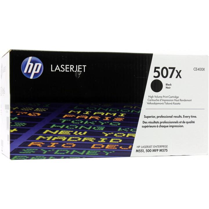 HP 507X Картридж для LaserJet M551/M570/M575 черный (CE400X), 11000 стр.
