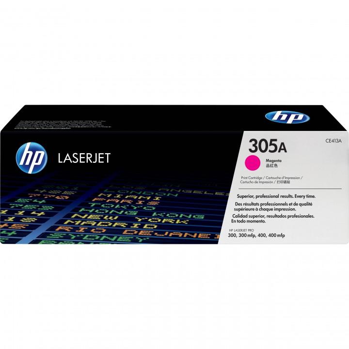 HP 305A Картридж для CLJ Pro 300 Color M351 /Pro 400 Color M451/MFP M375/M475(2,6К) пурпурный CE413A